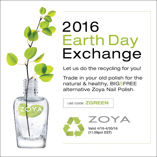ZOYA EARTH DAY NAIL POLISH EXCHANGE 2016...