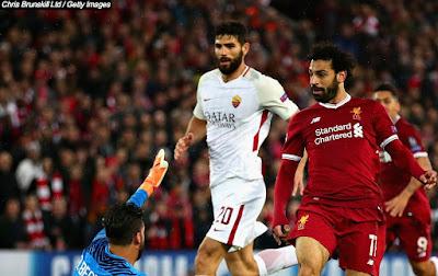 محمد صلاح ضد روما 2018