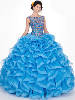 Off The Shoulder Mary's quinceanera Ball Gown Periwinkle/Multi dress