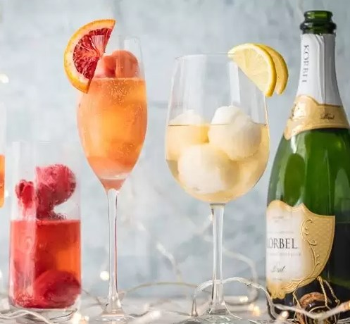 SHERBET MIMOSAS #drinks #cocktails