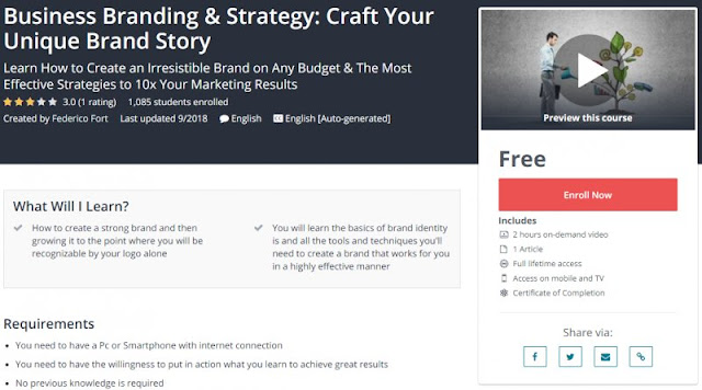 [100% Free] Business Branding & Strategy: Craft Your Unique Brand Story