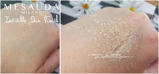 Nude skin  swatches MesaudaMilano mesauda powder cipria