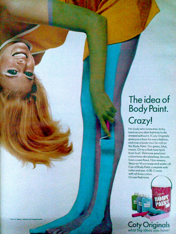 1960s fashion, Betsey Johnson, Body Paint,