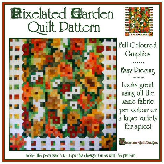 Pixelated Garden Quilt Pattern