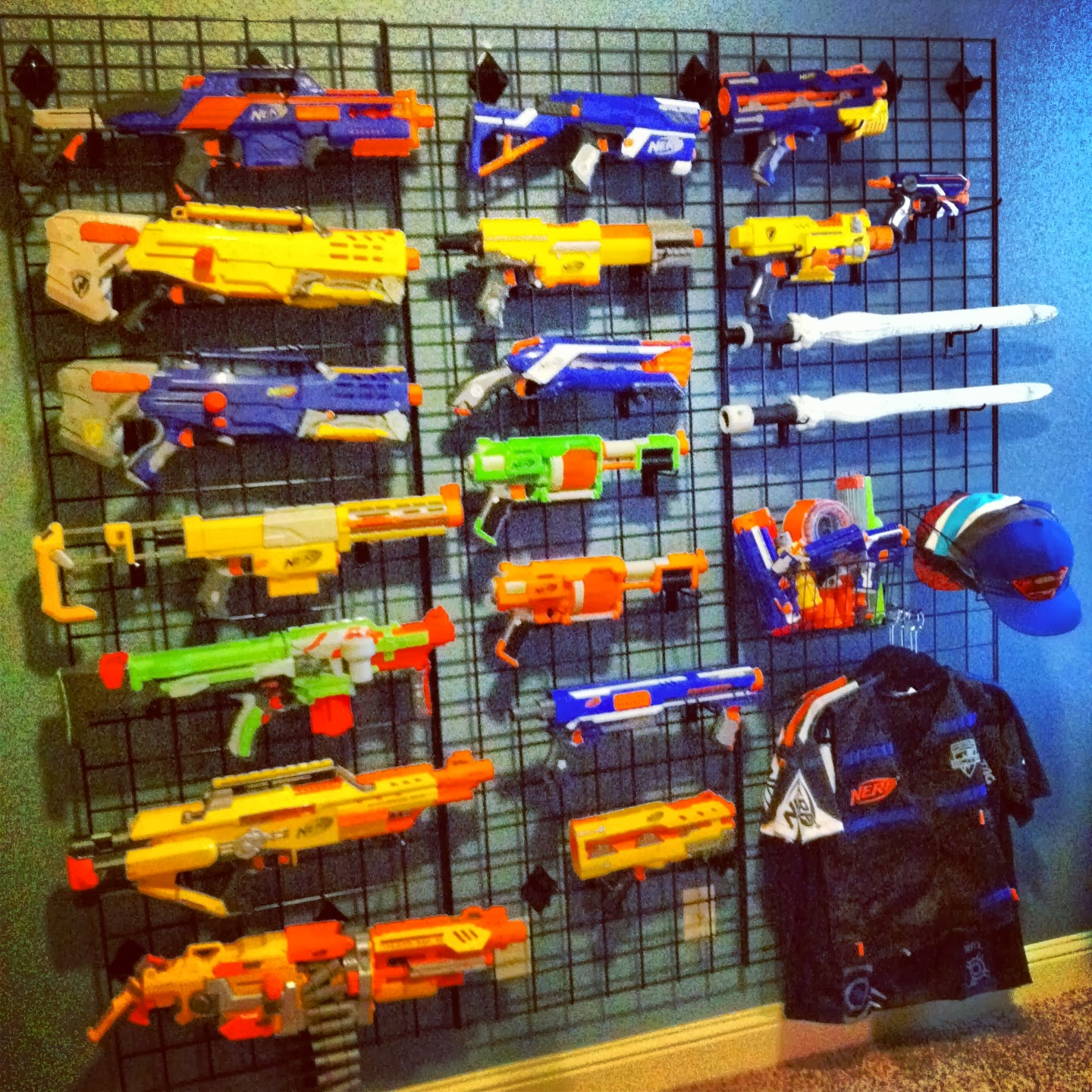 Nerf Gun Wall - Boys Preen Bedroom - Quite Contemporary