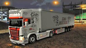 Scania RJL Skin + 3 Trailers