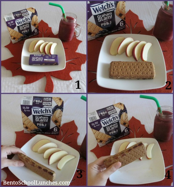 Easy Snack with Welch's Graham Slam! Grape PB&J