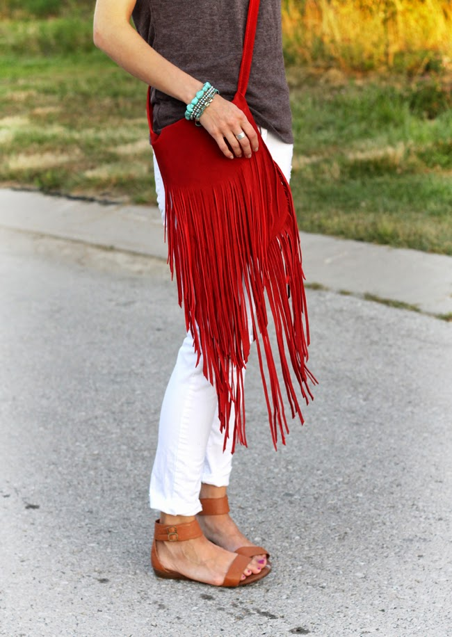 Red fringe purse from HMK