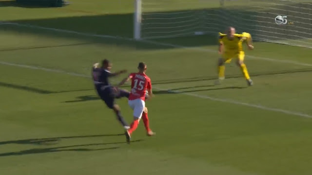 Mbappe scores great half-volley goal to give PSG a 3-2 lead against Nimes in Ligue 1
