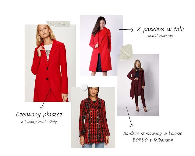 czerwony płaszcz jak nosić
