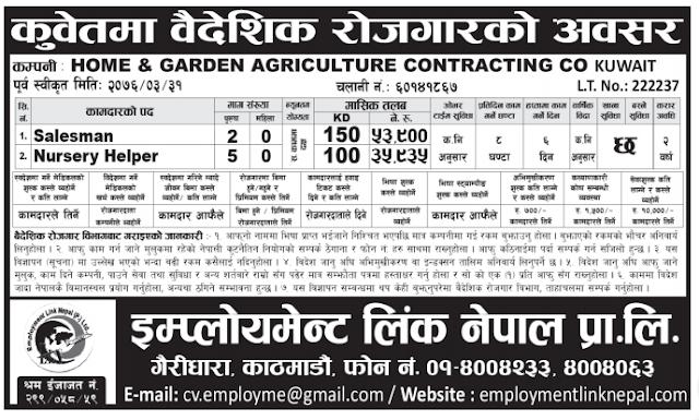 kuwait job demand in nepal