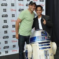 Bersama Hadi Partovi dan R2-D2 Starwars