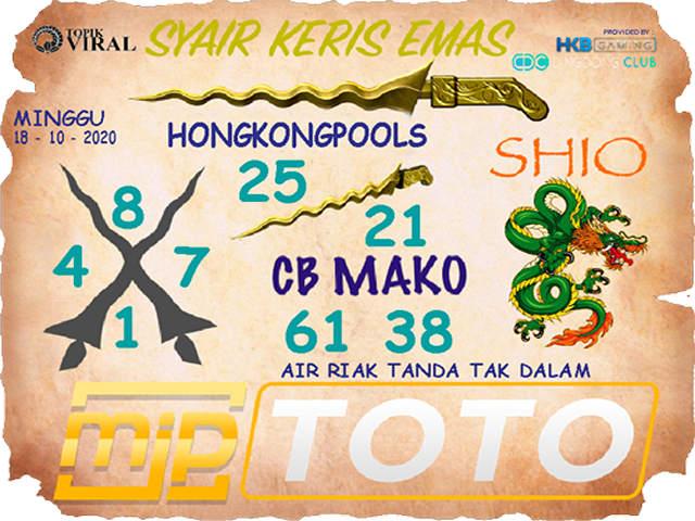 Kode syair Hongkong Minggu 18 Oktober 2020 206