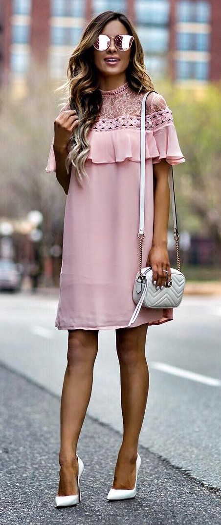 perfect summer outfit: dress + bag + heels