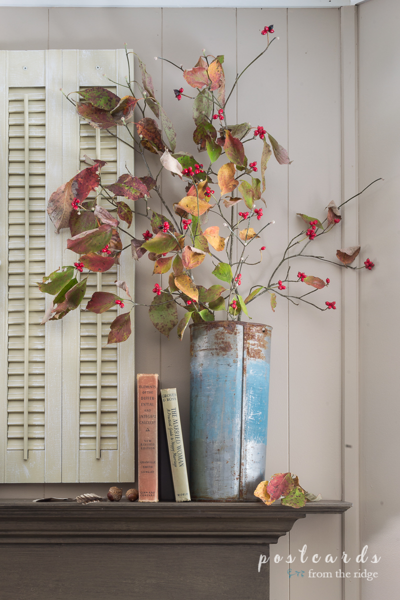Simple ideas for rustic, vintage fall decor