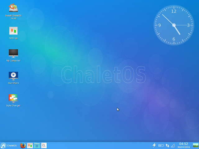 ChaletOS Xfce Desktop - First impression