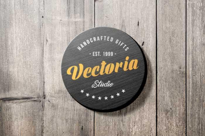 Vectoria Studio PSD Logo Mockup