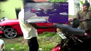 Shocking CCTV Video of accident in Moratuwa   BMW Car