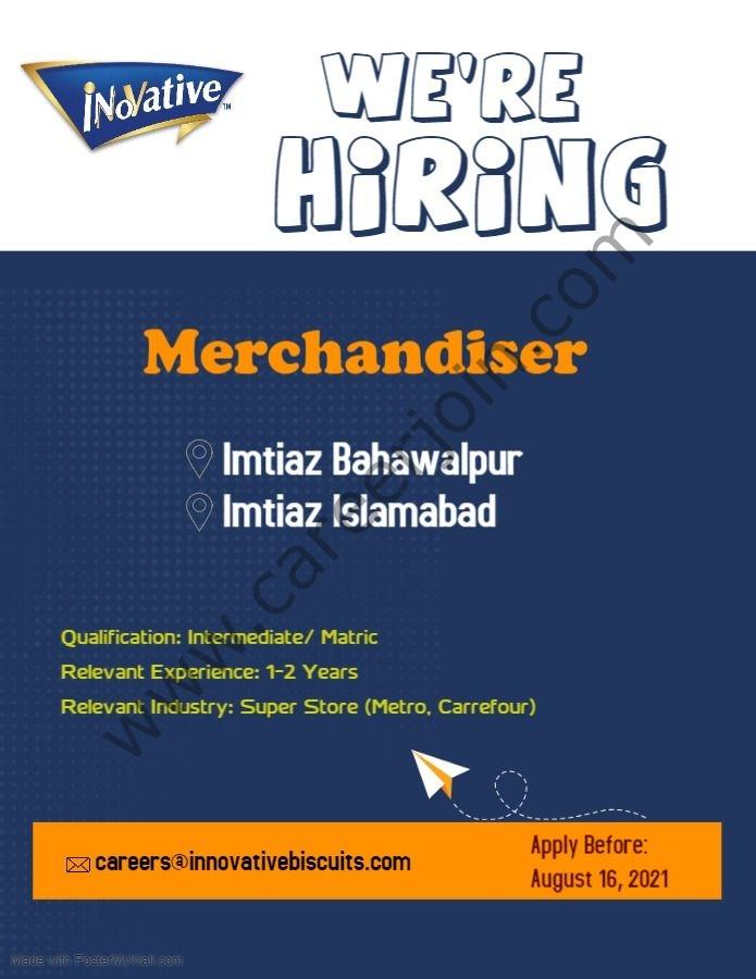 Innovative Biscuits Pvt Ltd Jobs August 2021