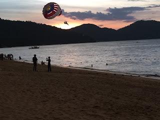 Sunset in Langkawi, Malaysia.