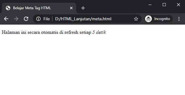 contoh meta tag html