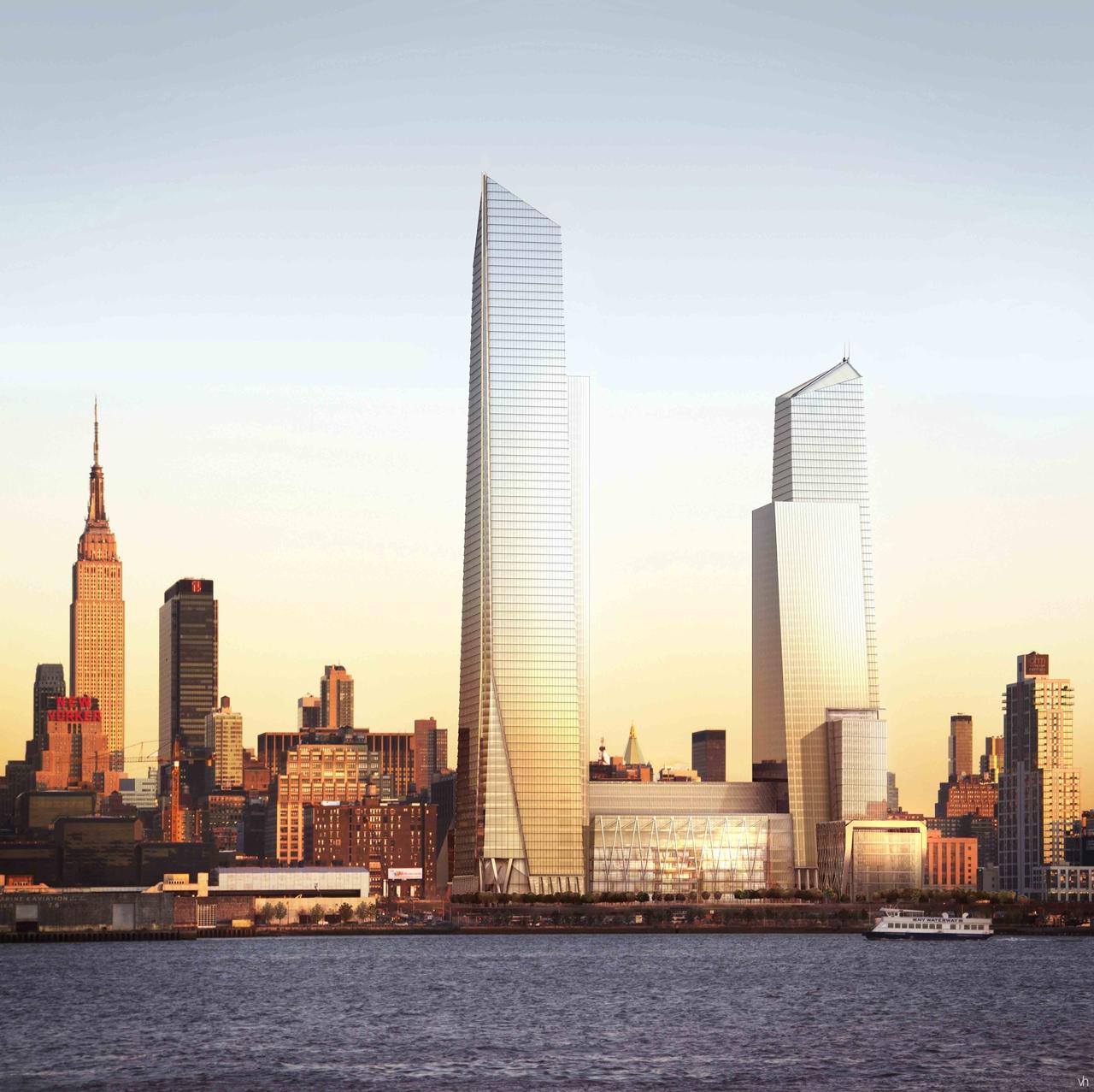 Manhatten New York: Modern Cabinet: Hudson Yards: New Neighborhood For West