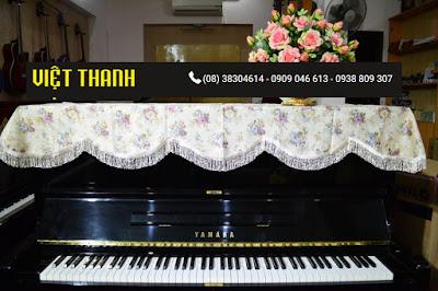 Bán Khăn phủ đàn Piano thêu hoa hồng bất tử - KU04 ở Tphcm, Giá rẻ