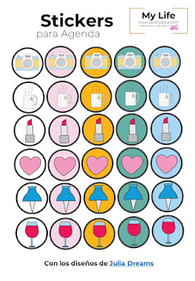 stickers, pegatinas, agenda, gratis,descargar