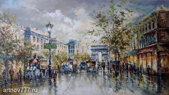 Париж, после дождя весной
