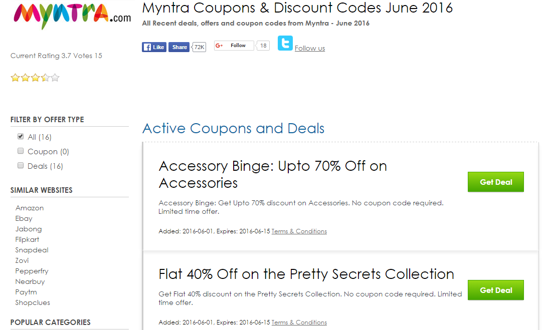 Myntra discount coupons on shoes