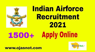 Indian Airforce Recruitment 2021 Notification PDF Download