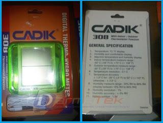 Jual CADIK 308 Thermohygrometer Indoor / Outdoor