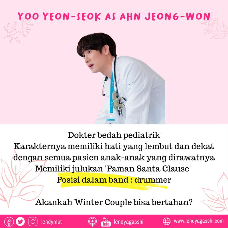 Yoo Yeon-Seok as Ahn Jeong-Won dalam Drama Hospital Playlist 2 cast