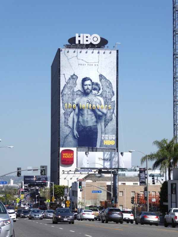 Leftovers giant final season 3 billboard Sunset Strip