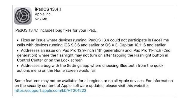 IOS 13.4.1 & IPadOS 13.4.1 Released To Fix Bluetooth, FaceTime Bug