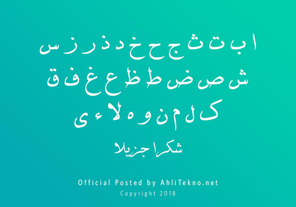 kumpulan font typography arabic keren (B Davat)