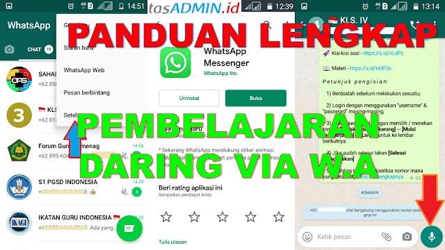 WhatsApp untuk pembelajaran daring