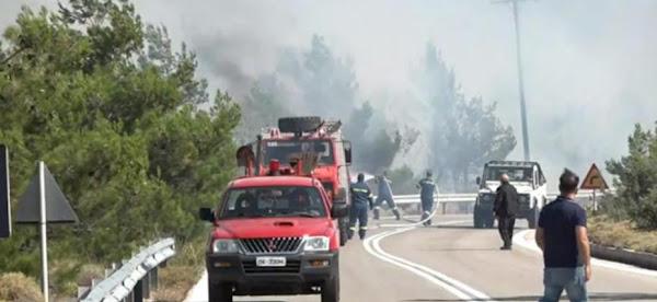Φωτιά στην Χίο: Νεκρός πυροσβέστης