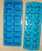 star shape ice cube tray used for bath bombs