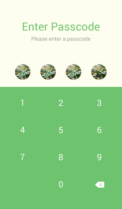 Simple camouflage button