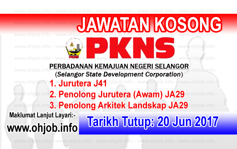 Jawatan Kerja Kosong PKNS - Perbadanan Kemajuan Negeri Selangor logo www.ohjob.info jun 2017