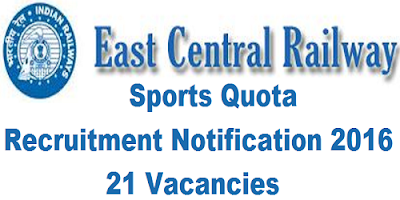 ECR Sports Quota Recruitment 2016