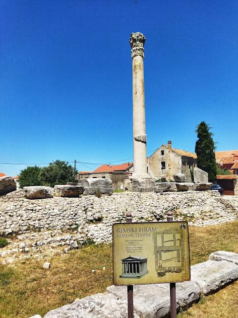 rzymskie pozostałości, wykopaliska Nin, historia