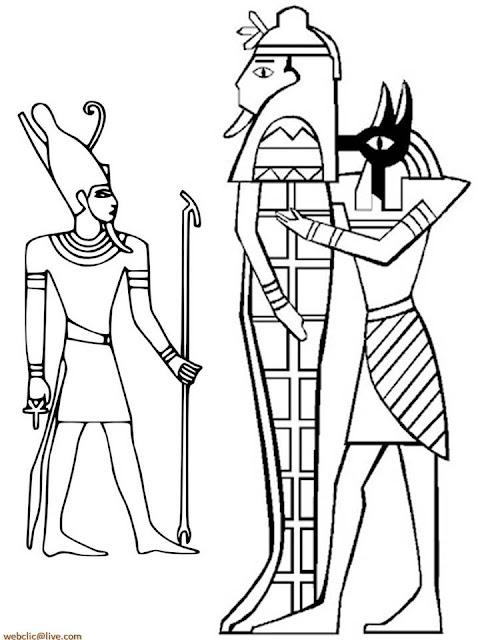 Desenhos nas piramides do Egito