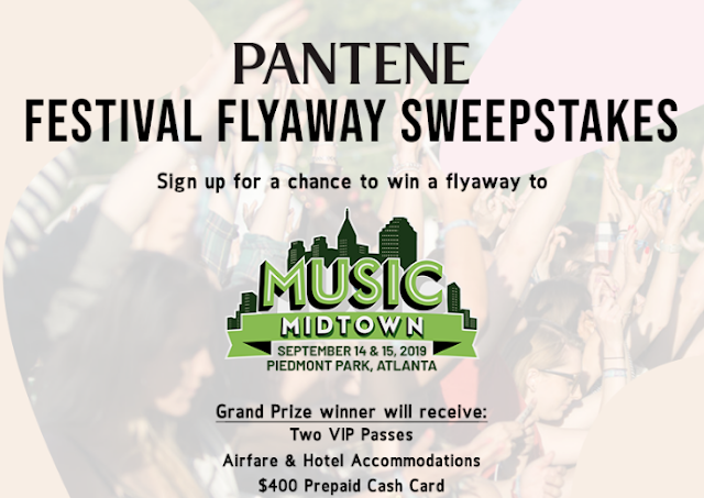 Pantene is giving away a trip to Music Midtown to see acts like Panic! At The Disco, Billie Eilish, Travis Scott, Vampire Weekend and more!