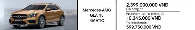 Giá xe Mercedes AMG GLA 45 4MATIC 2018 tại Mercedes Trường Chinh