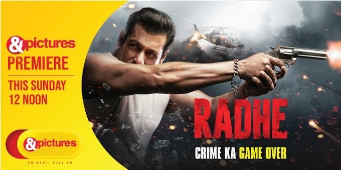 Ab hoga crime ka game over- अब होगा क्राइम का गेम ओवर : & पिक्चर्स पर राधे का प्रीमियर 26 सितंबर को