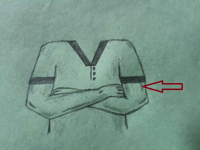 How to Draw Crossed Arms step by step