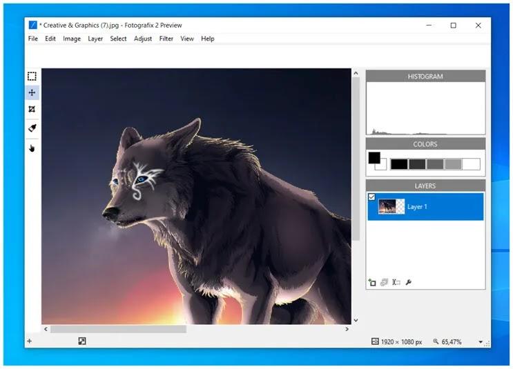 Fotografix :   Απλό, δωρεάν πρόγραμμα επεξεργασίας εικόνας για τα Windows