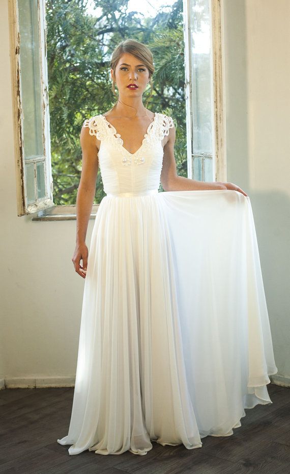 Romantic vintage wedding dress